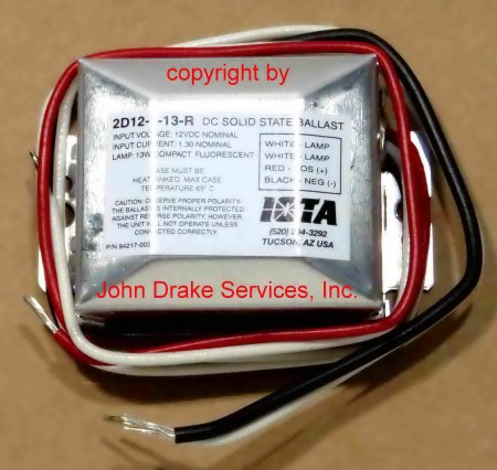 iota engineering 2d12-1-13r ballast 12 volt dc